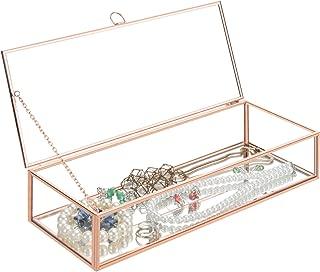 rose gold glass jewelry box