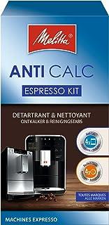 Melitta Kit d'Entretien, Pour Machines à Café Automatiques, 4 Détartrants en Poudre (4 x 40 g), 4 Pastilles Nettoyantes (4...