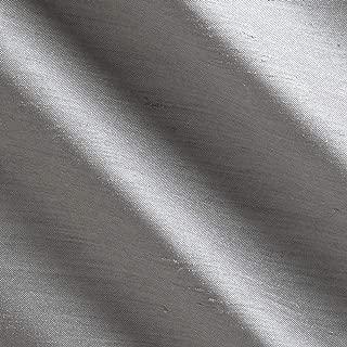 Ben Textiles Shantung Sateen Light Grey Fabric by The Yard, 113 Perfect Storm