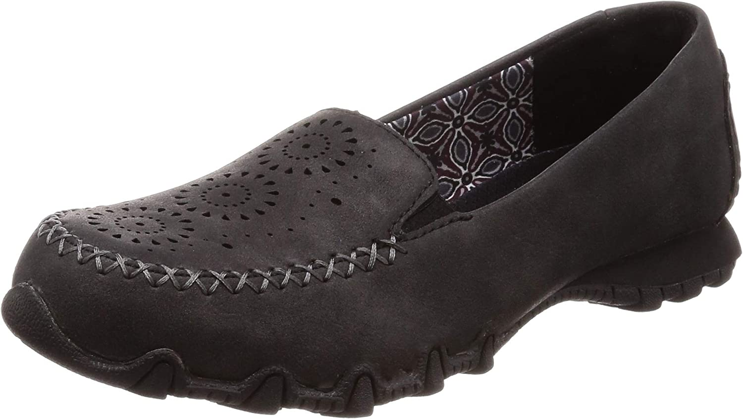 Skechers Relaxed Fit Bikers Lass Womens Slip On Loafers Black