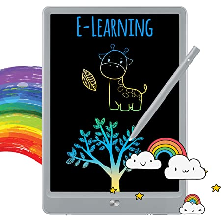 8.5inch Colorful Drawing Tablet Writing Pad,Girls Birthday Gift and Toys for 3 4 5 6 7 Year Old Girls Boys TEKFUN LCD Writing Tablet Doodle Board,Girls Toys for 3-6 Years Old Girls Boys White Pink