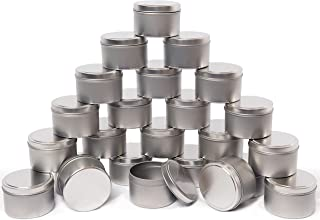 Candle Tin 24 Piece, 8 oz, for Candle Making, Arts & Crafts, Storage & More(40 pcs Candle Wick Stickers, 24 pcs hot Stampi...