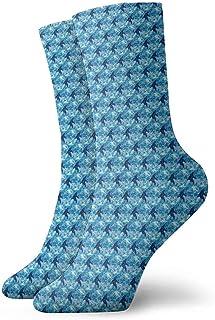 Dydan Tne, Calcetines de Vestir Bigfoot Azules Calcetines Divertidos Calcetines Locos Calcetines Casuales para niñas Niños