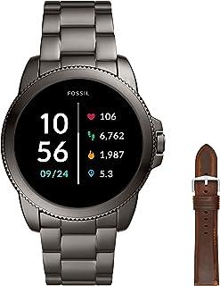 Fossil Smartwatch GEN 5E Connected da Uomo con Wear OS by Google con Cinturino in Acciaio Inossidabile + Cinturino dell'Or...