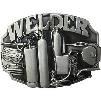 Lanxy Native American Welding Torch Industry Welder Tool Pewter New Belt Buckle For Men
