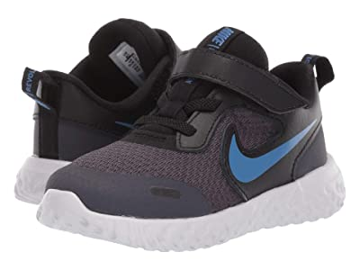 Nike Kids Revolution 5 (Infant/Toddler) (Gridiron/Mountain Blue/Stellar Indigo) Boys Shoes