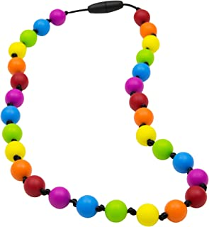 Rainbow Sensory Chew Necklace by Munchables (Knots)