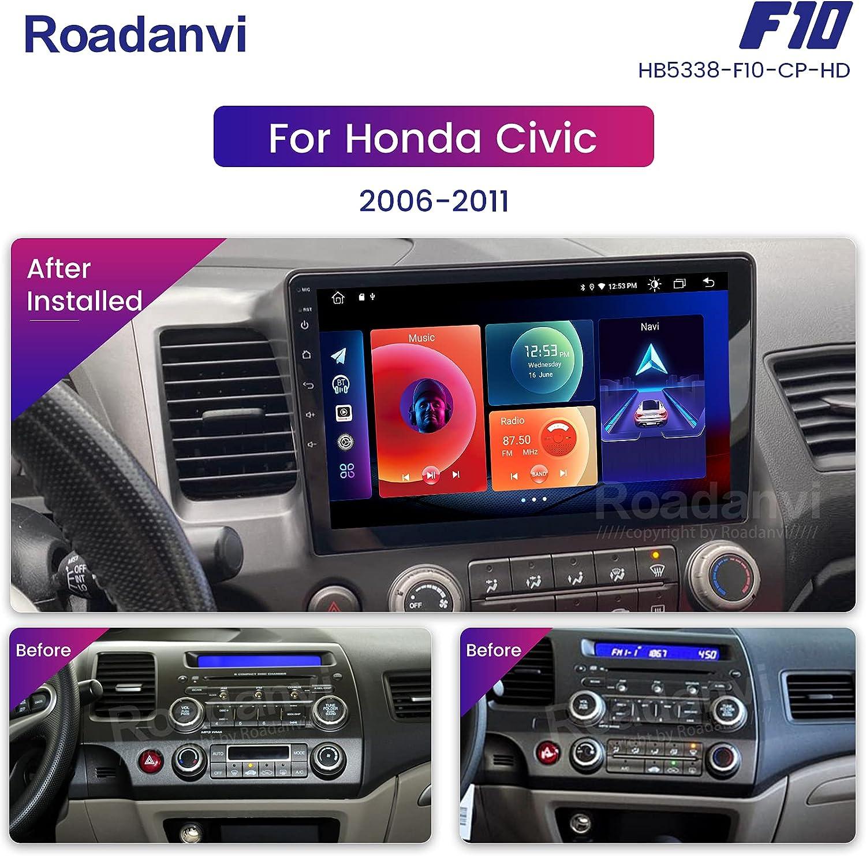 Roadanvi for Honda Civic 2009 2010 2011 Car Stereo Bluetooth Radio ...