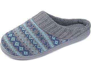 RockDove Sweater Knit Scuff Pantuflas For Women (7-8 B(M) US