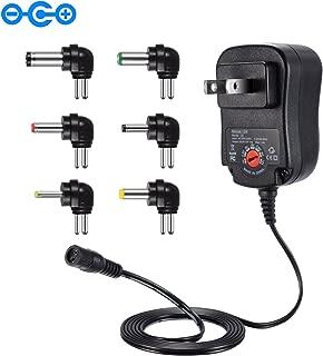 Punasi チャージャー 3V-12V 電圧調整 変換プラグ ユニバーサル AC充電器 ACアダプター DCアダプター メデラ パンプ スピーカー LEDライト ルーター ケーブルセット (12w)コネクタの極性:インナープラス(+)、アウターマイナス(ー)
