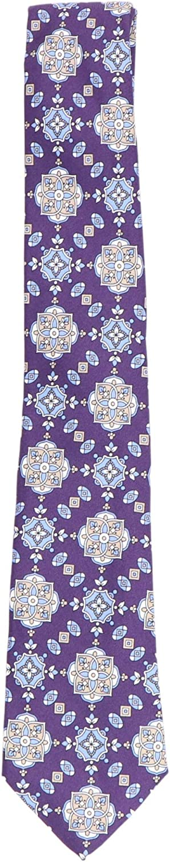 Canali Men's Geometric Design Silk Tie Necktie