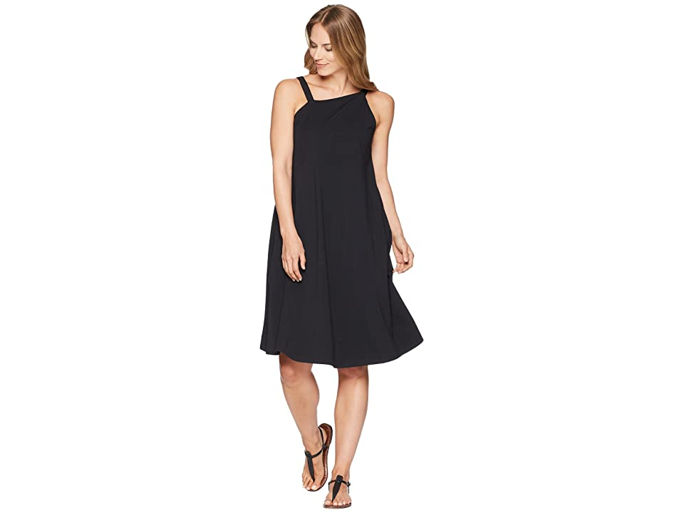 NAU Asymmetrical Tank Dress (Caviar) Women