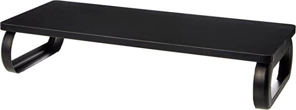 AmazonBasics Wood Monitor Stand, Computer Riser, Black