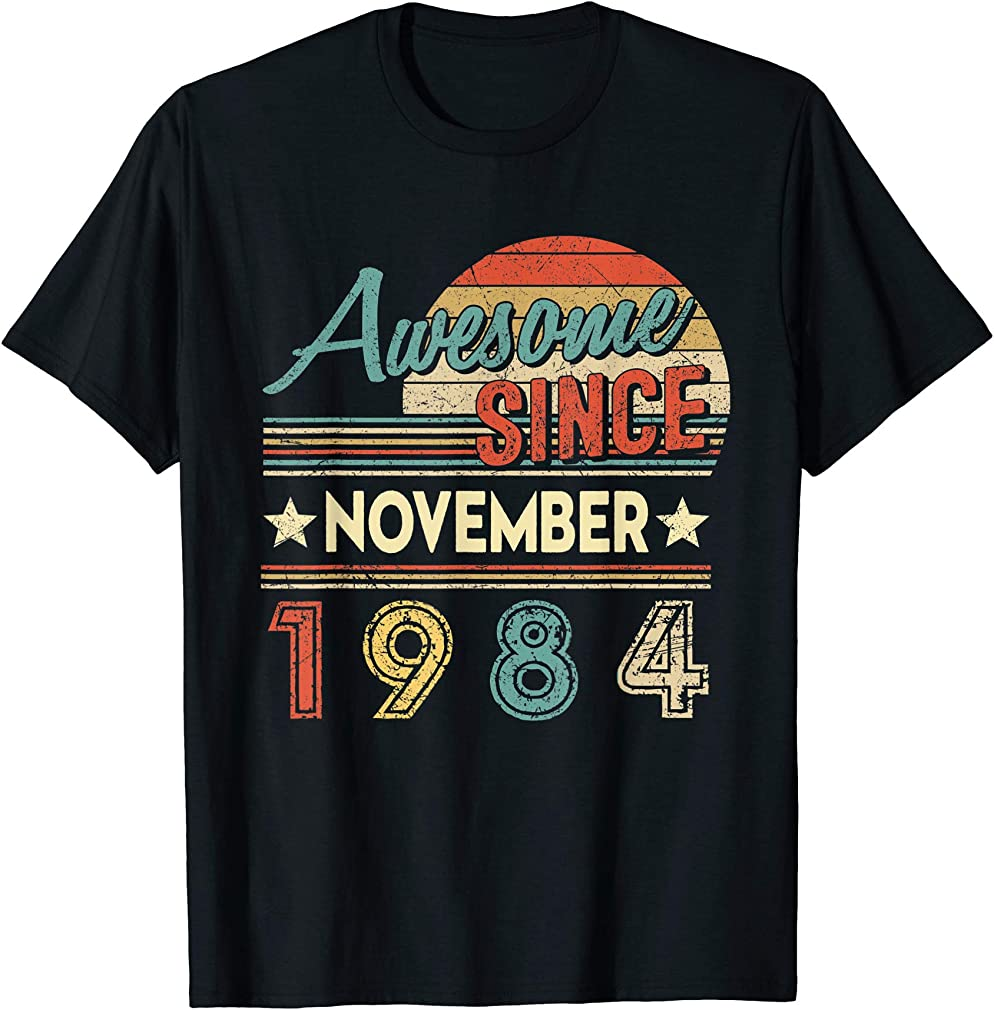 Awesome Since November 1984 Shirt 35 Yrs Old Birthday T-shirt