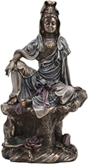 Ebros The Water And Moon Goddess Kuan Yin Bodhisattva Statue In Bronze Finish Resin 7