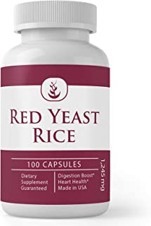 Red Yeast Rice Extract (100 Capsules, 1245 mg Serving), 100% Pure, Gluten-Free, Supports Overall Health & Well Being*
