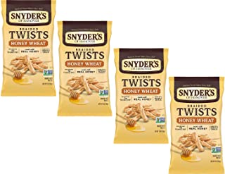 Snyder's of Hanover Pretzels Braided Twists, Honey Wheat, Four 12 Ounce Bags