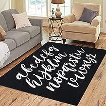 Pinbeam Area Rug Hand Made Alphabet Exclusive Custom Letters Lettering Home Decor Floor Rug 5' x 7' Carpet