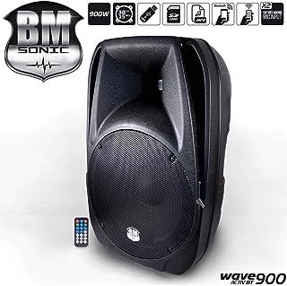 """Enceinte amplifiée 38cm/15"""" 900W, USB/SD Bluetooth"""