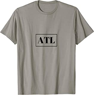 Atlanta Print Hip Hop Hometown Pride Vintage T-Shirt