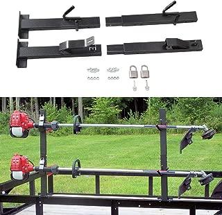 tiewards 2 Place Lockable Trimmer Landscape Trailer Rack Fit for Landscape Trailers Racks