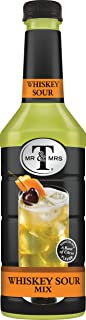 Mr & Mrs T Whiskey Sour Mix, 1 Liter Bottle (Pack of 6)