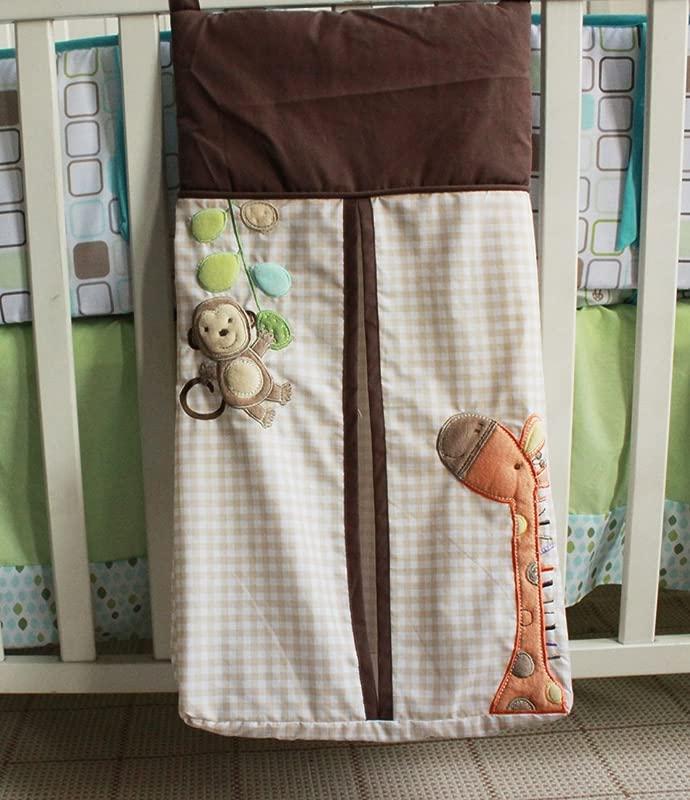 Diaper Stacker Handmade Giraffe Monkey Baby Diaper Hanging Bag 1 Piece Monkey Giraffe