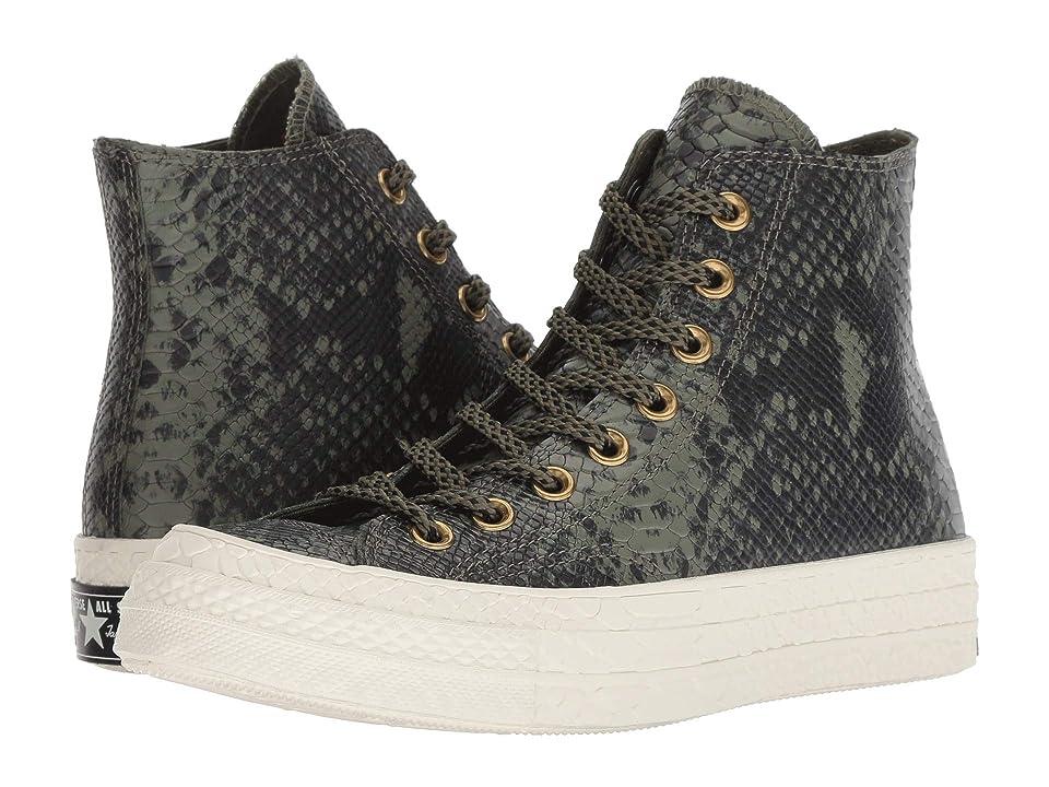 Converse Chuck 70 - Full Gator Hi (Field Surplus/Black/Egret) Women's Shoes, Gray