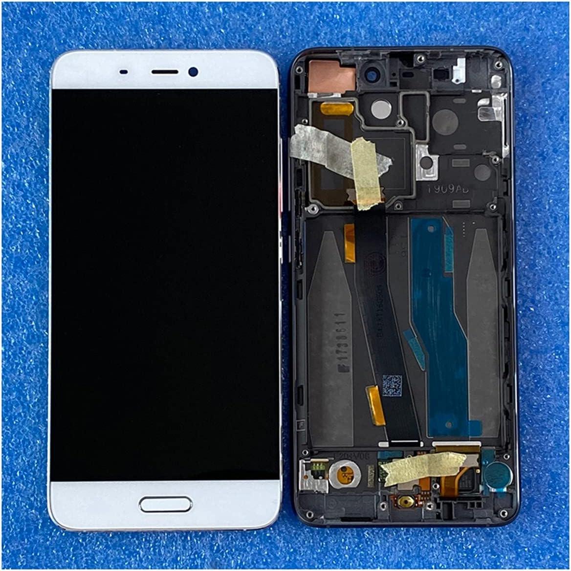 SYFANG Fit for Xiaomi 5 Mi5 M5 Pantalla LCD + Digitalizador táctil con Marco + Pantalla LCD de teléfono con Huellas Dactilares(Color:Black No Frame)
