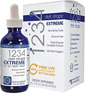 1234 Diet Drops Extreme Appetite Suppressant and Weight Loss Support #1 Best Selling Diet Drops Brand Worldwide