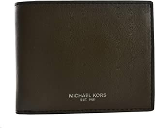 Michael Kors Men's Bifold Slim Wallet, Leather - Olive