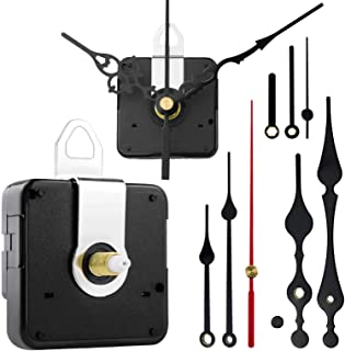 StFlyBro 2 Pack Non Ticking Wall Clock Movements with Different Styles of Clock Hands DIY Repair Parts Replacement Battery Operated