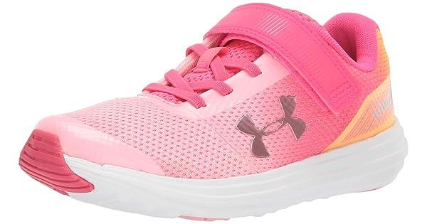 Under Armour Kids Pre School Surge Rn Prism Adjustable Closure Sneaker 3021175
