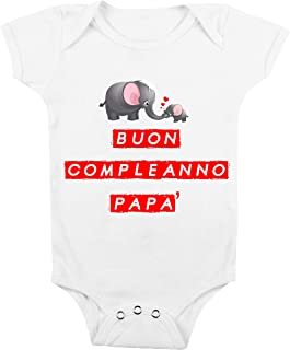 Fathers Day Idea Regalo t-shirteria Body Neonato Divertente Compleanno Festa del pap/à Auguri pap/à