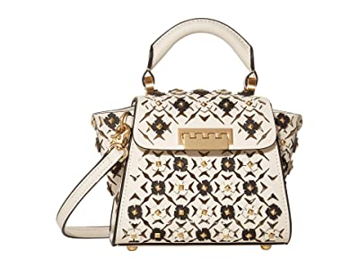 ZAC Zac Posen Eartha Mini Top-Handle Floral Applique Color Block (Swan) Handbags