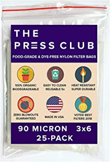 90 Micron | Premium Nylon Tea Filter Press Screen Bags | 3