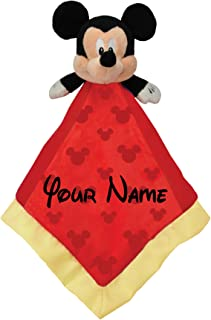 Disney Personalized Mickey Mouse Baby Snuggle Blanky Blanket - 14 Inches