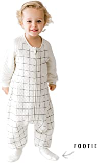 TEALBEE DREAMSIE: Toddler and Early Walker Baby Sleepsuit - 0.8 TOG Sleeping Sack with Feet and Sleeves keeps Toddlers Babies Warm during Sleep from Spring to Winter - Wearable Blanket (12m-2t, Large)