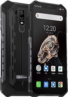 """頑丈な携帯電話のロック解除、Ulefone Armor 6S IP68防水スマートフォン、Android 9.0 5000mAhバッテリーワイヤレス充電6.2""""19:9 FHD +、Helio P70 16MP + 8MPデュアルカメラデュアル..."""