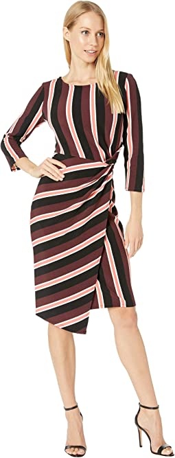 Burgundy/Coral Stripe