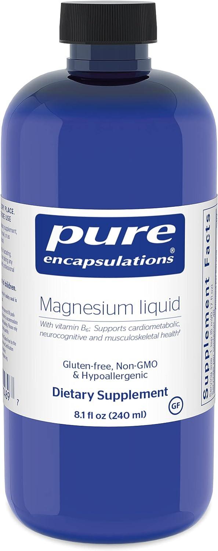Pure Encapsulations - Magnesium Liquid safety Las Vegas Mall Hypoallergenic Combinat