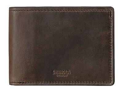 Shinola Detroit Navigator Slim Bifold 2.0 (Moss) Bi-fold Wallet