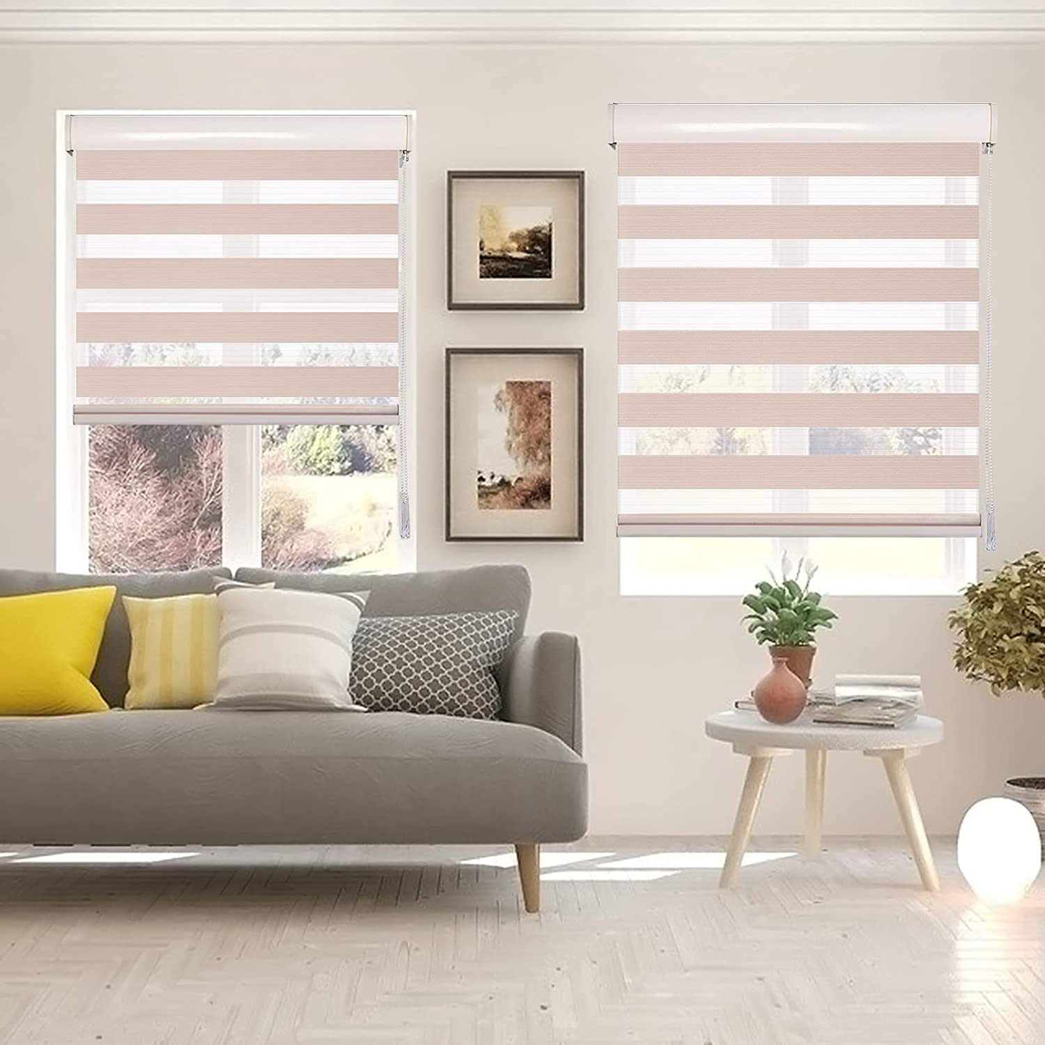Didoya OFFer Zebra Roller Blinds Dual 4 years warranty Layer Shades Privacy Sheer or