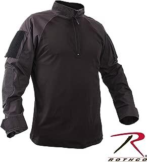 Rothco 99010 Black 1/4 Zip Military Combat Shirt-XLarge