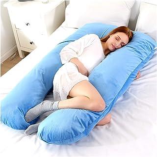 AQHXLS Maternity Pillow, U-Shaped Sleep Pillow, Flannel Pillowcase, Maternity Body Pillow, Maternity Side Pillow Bedding, ...