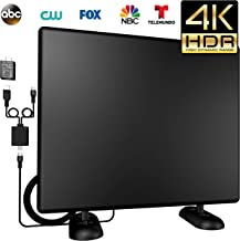 120Miles Amplified Ultra TV Antenna- [Latest 2019] 4K HDTV Antenna Indoor/Outdoor Antenna with Amplifier Booster Free Digital TV Channels High Reception for VHF/UHF/1080P/4K Signals 16ft