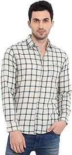 Mufti Men's Checkered Slim fit Casual Shirt (MFS-9573_Multicolor 3XL)