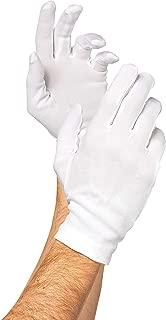 White Cotton Santa Gloves