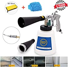 High Pressure Interior Car Cleaning kit, Auto Tornado Deep Cleaning Gun Wash Brush, Spray Tool Kit, Car Washing Cloth, Vehicle Exterior Glass Cleaner, with 1L Foam Bottle, 2 Nozzle Sprayer
