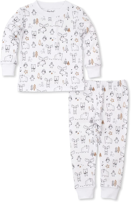 Kissy Kissy Baby-Boys Infant Pajamas Moose Mania Print Long Pajamas Set